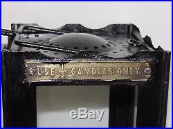 08d36 Ancienne Lanterne Pliante De Tranchée Datée 1916 Anglais 14/18 British Wwi