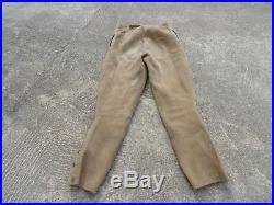1880 1900 Rare Culotte en Cuir Peau de couleur beige Cavalerie Infanterie