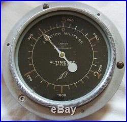 ALTIMETRE AVIATION MILITAIRE Léon HATOT 0-3000m WW1