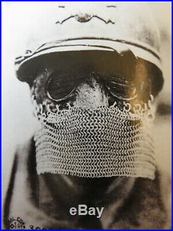 ARTILLERIE SPECIALE MASQUE /LOUP DE CHARISTE /TANKISTE 1916 1WW. Casque adrian
