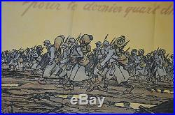 Affiche 1914/1918-pour Le Dernier Quart D'heure. Emprunt National-signee Sem