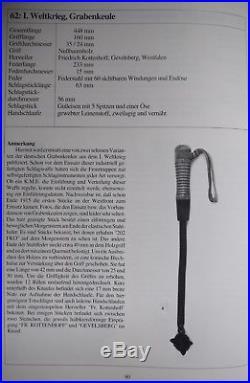 Allemagne WW1 Grabenkeule RARE Casse-tête nettoyeur de tranchée (Kampfmesser)