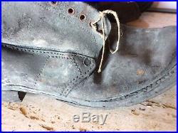 Ancien Brodequin Militaire armée COLLECTION MILITARIA WW1 WW2