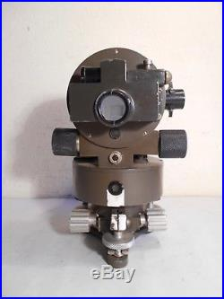 Ancien Théodolite Huet Paris Mg Armée Artillerie Ww1 Niveau Lunette Géomètre