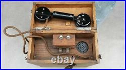 Ancien rare téléphone de campagne guerre 1914-1918 à identifier. Parfait état