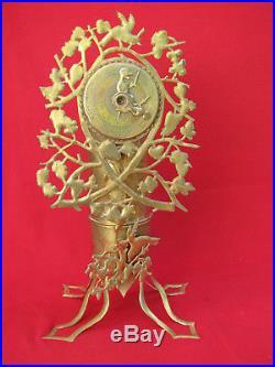 Artisanat De Tranchees Exceptionnelle Pendule / Trench Art 1914 1918