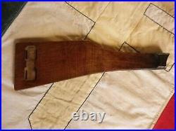 Authentique Crosse Planchette Accessoire Pistolet Mauser Luger P08 Artillerie