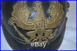 Authentique casque à pointe allemand 1905