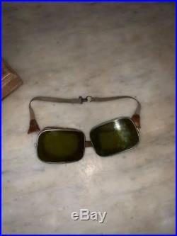 Aviation Casque Roold de pilote de 14-18, avec ses lunettes, aviateur, as