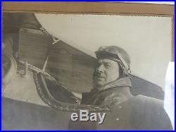 Aviation pilote photo LE BRIX COSTES médaille de table