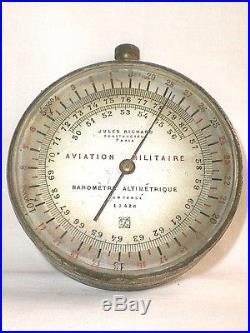 Baromètre Altimétrique Aviation Militaire Jules Richard Guerre De 14/18