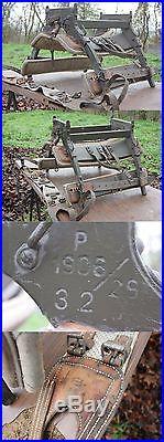 Bât de mulet / cheval Armée Suisse / selle harnais transport de charges