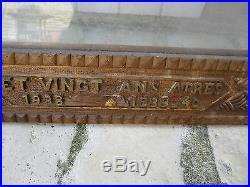Beau Cadre Ancien Bois Sculpte Travail De Poilu Soldat Guerre 14 18 39 45 Ww2