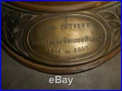 Beau Casque Adrian Mle 1915 De Zouave +plaque Nominer