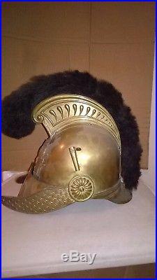 Beau casque 1852 de sapeur pompier de Rilly