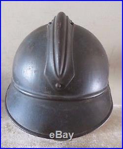 Beau casque ADRIAN du Génie, peinture bleu horizon, complet, 1 ère guerre. Jus