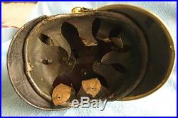 Beau casque à chenille 1864 Bayern raupenhelm spiked helmet 1864 guerre 1870
