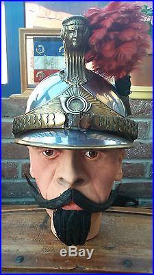 Beau casque de chasseur à cheval mle 1913 WW1 Artois, Somme, Meuse, Verdun