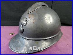 Beau casque infanterie 14-18 complet militaria