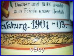 Belle Chope A Biere Conscrit Kaiser 1870 71 14 18 Artillerie Fond Lhithophanie