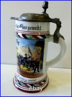 Belle et rare chope de Réserviste du 132 ème Régiment d' Infanterie à STRASBOURG