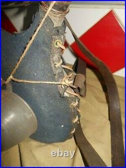 Bidon Gourde 1877 + Quart Housse Gris Fer Bleute Piou Piou Poilu Ww1 14-18