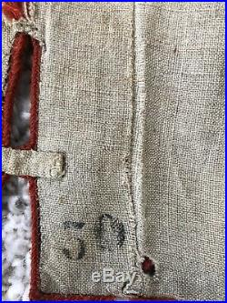 Boléro Du 1 et Zouave en drap bleu marine à tombeaux rouges (mauvaise état)