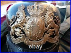 CASQUE A POINTE BAVAROIS modèle 1895 du 22 JR / BAYERISCHES PICKELHAUBE