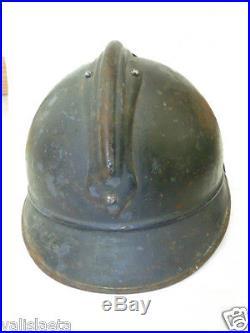 CASQUE FRANCAIS ADRIAN Mle 1915 CHASSEUR 1914-1918 COMPLET