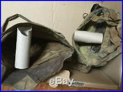 Cagoule protection gaz WW1 avec sa housse de protection et boite de transport