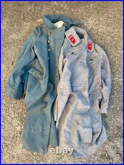 Capote bleue horizon dans son jus grenier datée 1917 (à restaurer) WW1