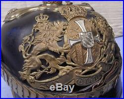 Caque d'officier réserviste Bavarois modèle 1895