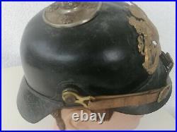 Casque À Pointe Allemand Ww1 Pickelhaube German Germany Helmet Hat Cap