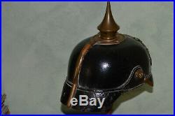 Casque A Pointe Mod. 1895 Baviere-ir 15-bataille De Lorraine 1914-german Helmet