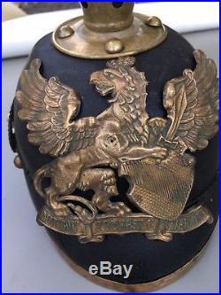 Casque À Pointe Prussien Première Guerre Mondiale 1914. Achat Immédiat