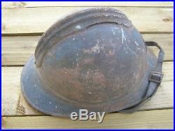 Casque ADRIAN 1915 zouave tirailleur bleu horizon jus de grenier intouché