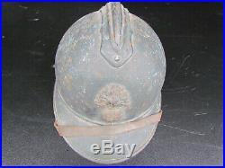 Casque Adrian 15 Bleu Horizon D'infanterie 14/18 Original Ww1