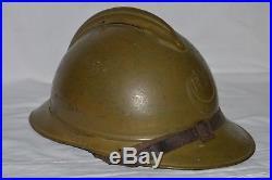 Casque Adrian 1915 Couleur Moutarde-armee D'afrique Zouave-tirailleur-spahis