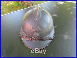 Casque Adrian Bleu Horizon 1915 Officier Infanterie Cavalerie Original Ww1