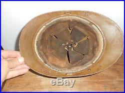 Casque Adrian Fr Mle 1915 Camouflée Sable Avec Sa Plaque Du 2 Tirailleur