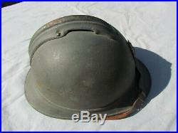 Casque Adrian Infanterie 1915 Bleu Horizon 14/18 Ww1 Original