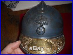 Casque Adrian Mle 15 D Infanterie Avec Plaque Commemorative Du 5 Bcp