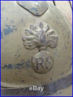 Casque Adrian Mle 15 Moutarde Légion WW1 14-18