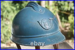 Casque Adrian Mle 15 de chasseur Poilu WW1
