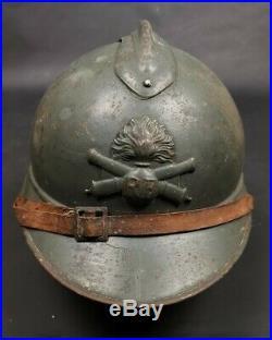 Casque Adrian Modèle 1915 Artillerie Gris Poilu Ww1