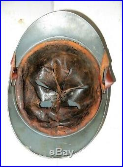 Casque Adrian de l' Infanterie, modèle 1915, bleu horizon, 1 ère guerre mondiale