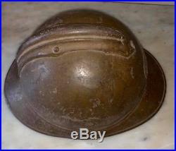 Casque Adrian modele 1915 armée d'Afrique, zouave