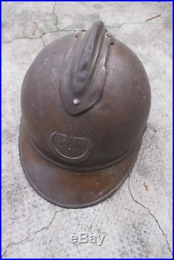 Casque Adrian pour les troupes d'AFRIQUE tirailleur, zouaves guerre 14-18 WW1