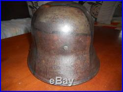 Casque All Mle 1916 Camoufler Avec Insigne De Mitrailleur