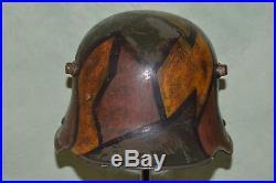 Casque Allemand M. 1916 Camoufle-german Helmet 1°ww-deutsche Stahlhelm 1916 1°wk